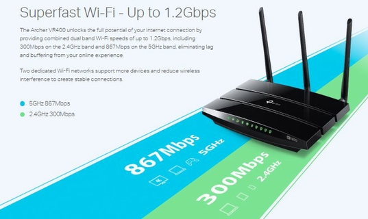 خدمة Wi-Fi فائقة السرعة - تصل إلى 1.2 جيجابت في الثانية