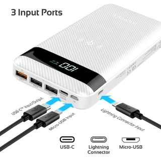 مدخلات Lightning و Micro-USB و USB-C
