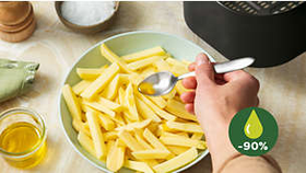 Fry with up to 90% less fat