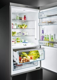 The first bottom freezer that you can easily restyle at anytime.