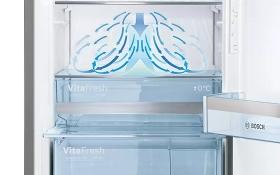 Full flexibility in the freezer area.