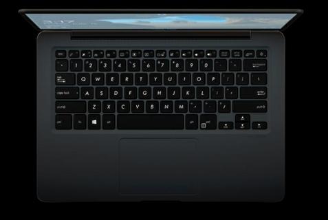 Ergonomic backlit keyboard, plus touchpad