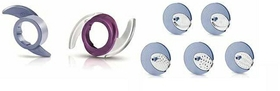 Colour-coded accessory, Disc inserts to slice, shred and granulate