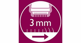 Click-on comb included to trim hairs to 3 mm length