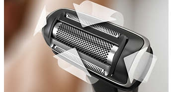 Adapts to the contours of your body for a comfortable shave