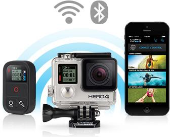 GoPro Hero 4 now features Wi-FI & Bluetooth