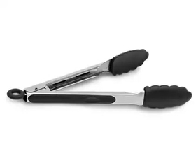 Silicon head tongs to easily remove the ingredients