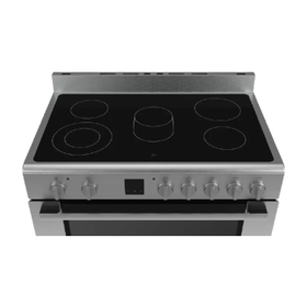Electric Range Cooker with up to 9 heating modes and glass-ceramic hob
