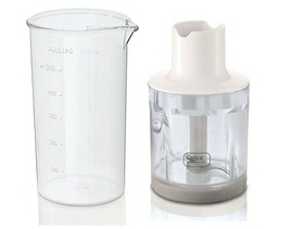 Full-Size 0.3L Chopper & 0.5L Storage Beaker Included