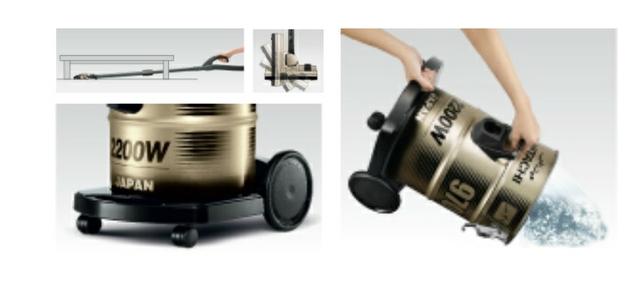 Hitachi Drum Type Vacuum Features