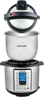 Stainless Steel Cooking Pot, Steam Rack, & Lid