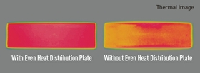 Even heat distribution plate