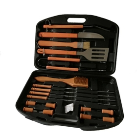 Orange 18 Pieces BB8 Wooden Set - Plastic Case