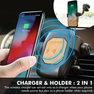 2-In-1 Qi Wireless Car Charger with Bluetooth Mono Headset for The Ultimate In Convenience