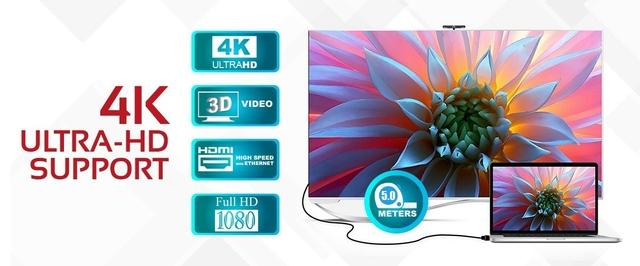 كابل 4K HDMI جودة الصوت والفيديو ٤كي عالية الوضوح