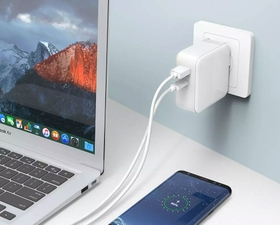 RAVPower 36W UK Wall Charger + Lighting Cable