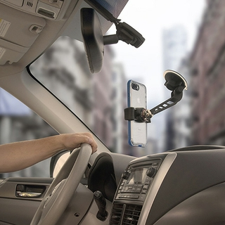 MAGNETIC CAR PHONE HOLDER FOR YOUR WINDSHIELD, HANDS-FREE VIEWING