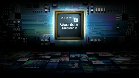 All powered by an amazing processor Quantum Processor 8K
