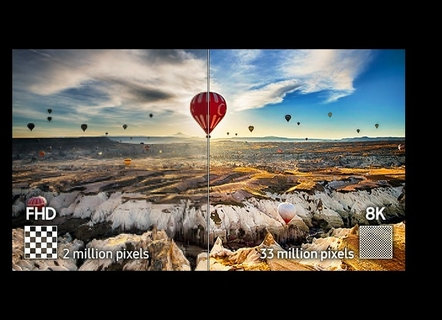 Breathtaking 33-million pixel resolution