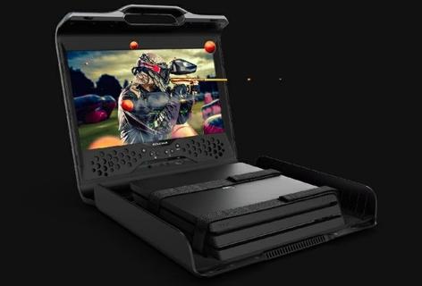شاشة بيئة الألعاب الشخصية سينتينال جي ١٧٠ بحجم ١٧,٣ بوصة كاملة الوضوح - أسود