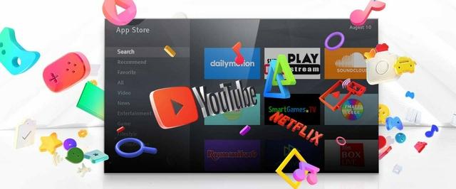 تلفزيون تي سي إل + متجر تطبيقات تي سي إل