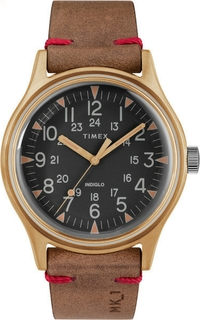 Timex Gents Leather Casual Watch