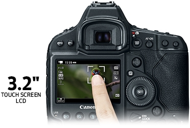 The EOS-1D X Mark II Camera's 3.2-inch Touch Panel TFT LCD Monitor