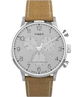 Timex Chronograph Leather Strap Watch