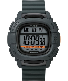 Timex BST.47 47mm Gent's Rubber Strap Digital Watch (TW5M26700) - Dark Grey