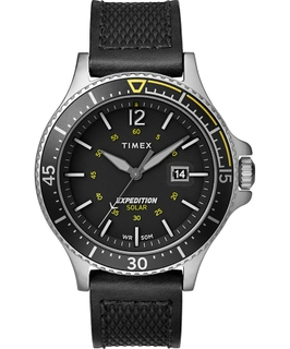 Timex Expedition Ranger Solar 43mm Leather Strap Watch (TW4B14900) - Black