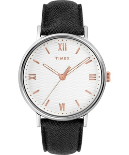Timex Southview 41mm Leather Strap Watch (TW2T34700) - Black