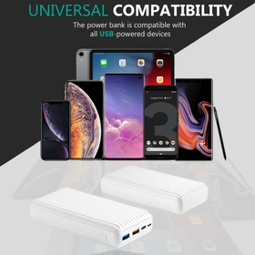 30000mAh High Capacity Power Pack with Power Delivery and Quick Charge 3.0