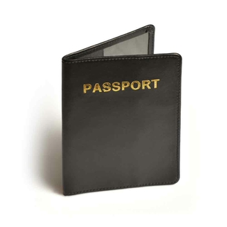 Travel Blue RFID Blocking Leather Passport Cover 621 - Black