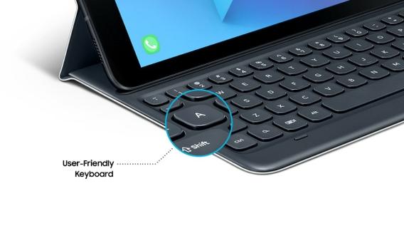 the best attitude c4c3f 4d135 Samsung Galaxy Tab S3 9.7 Inch Keyboard Cover (EJ-FT820USEGAE)- Grey ...