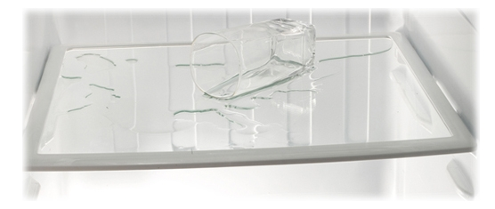 Spill-proof Shelves