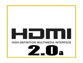 High bandwidth HDMI2.0a