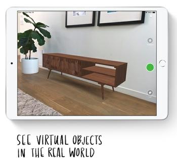 """اعمل وتعلم والعب باستخدام الواقع المعزز """"AR""""."""
