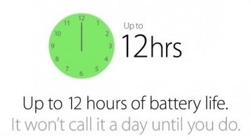 Battery Life Up To 12 Hours