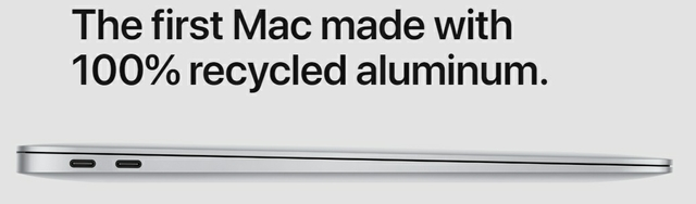 Materials: The First Mac Made With 100% Recycled Aluminum.