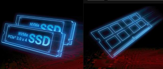 ذاكرة قوية. SSD البرق سريع.