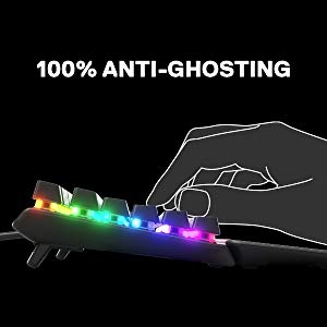 100% Anti-Ghosting with 104 Key Rollover