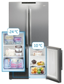 Fridge to freezer with one touch