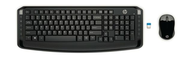 لوحة مفاتيح لاسليكة وماوس لاسلكي ٣٠٠ من اتش بي