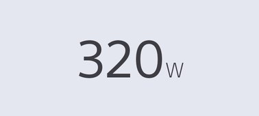 320 W Total Power Output