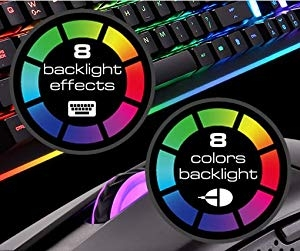 8 Backlight Effects / 8 Colors Backlight