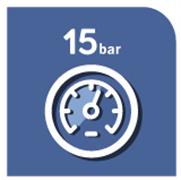 15 bar pressure