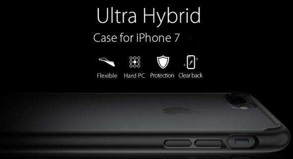 premium selection 0f9a6 aed44 Spigen Ultra Hybrid Case For iPhone 7 (042CS20446) – Black | Xcite ...