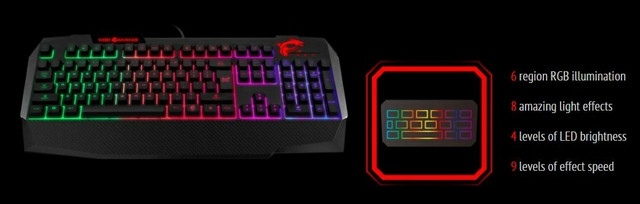 Msi Vigor Gk40 Us Backlit Rgb Dedicated Hot Keys Gaming Keyboard Black Xcite Ksa