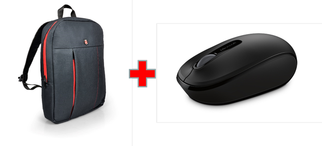 Microsoft Wireless MBL Mouse 1850 + Port Backpack