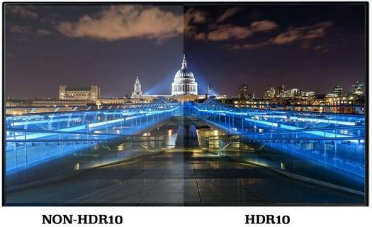 ألوان أكثر حيوية مع تقنية المدي الديناميكي العالي HDR 10